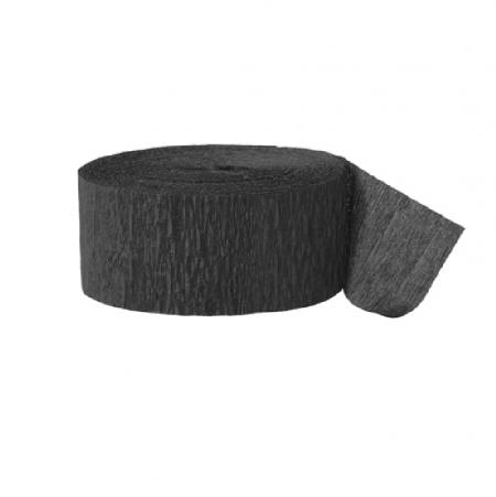 24 m ruban papier crépon noir