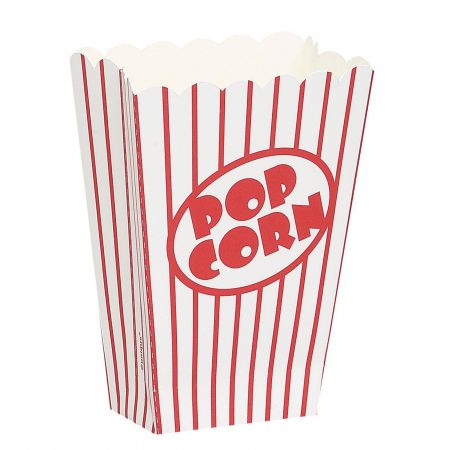 8 boites à pop corn en carton