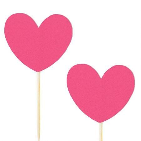 10 pics coeur rose fushia