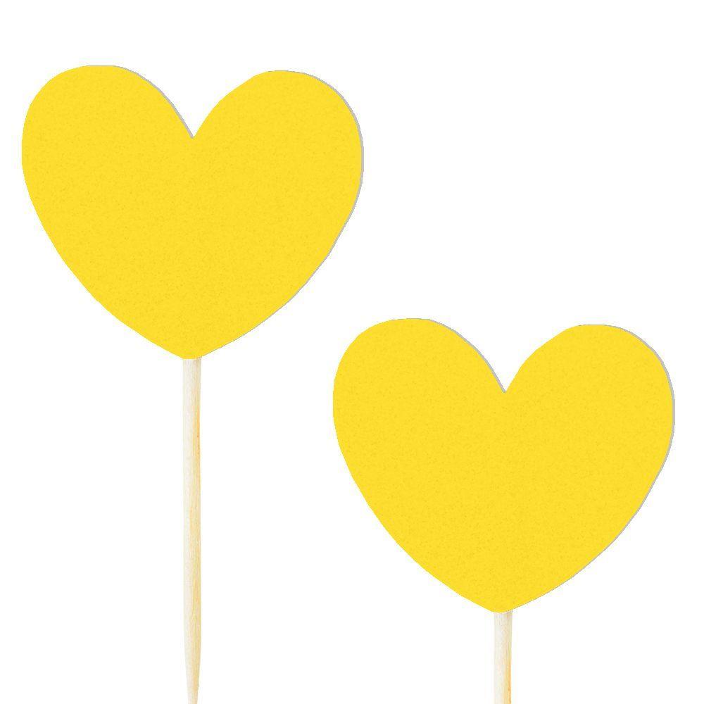 10 pics coeur jaune