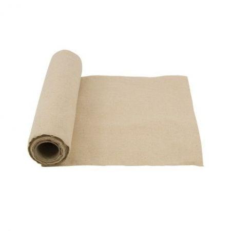 5 m chemin de table lin crème - 28 cm