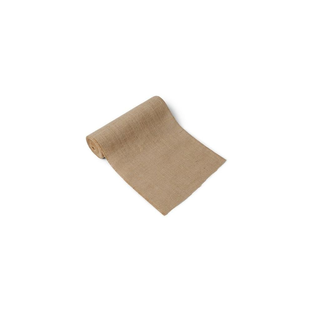 5 m chemin de table jute 28 cm - Chemin de table en toile de jute ...