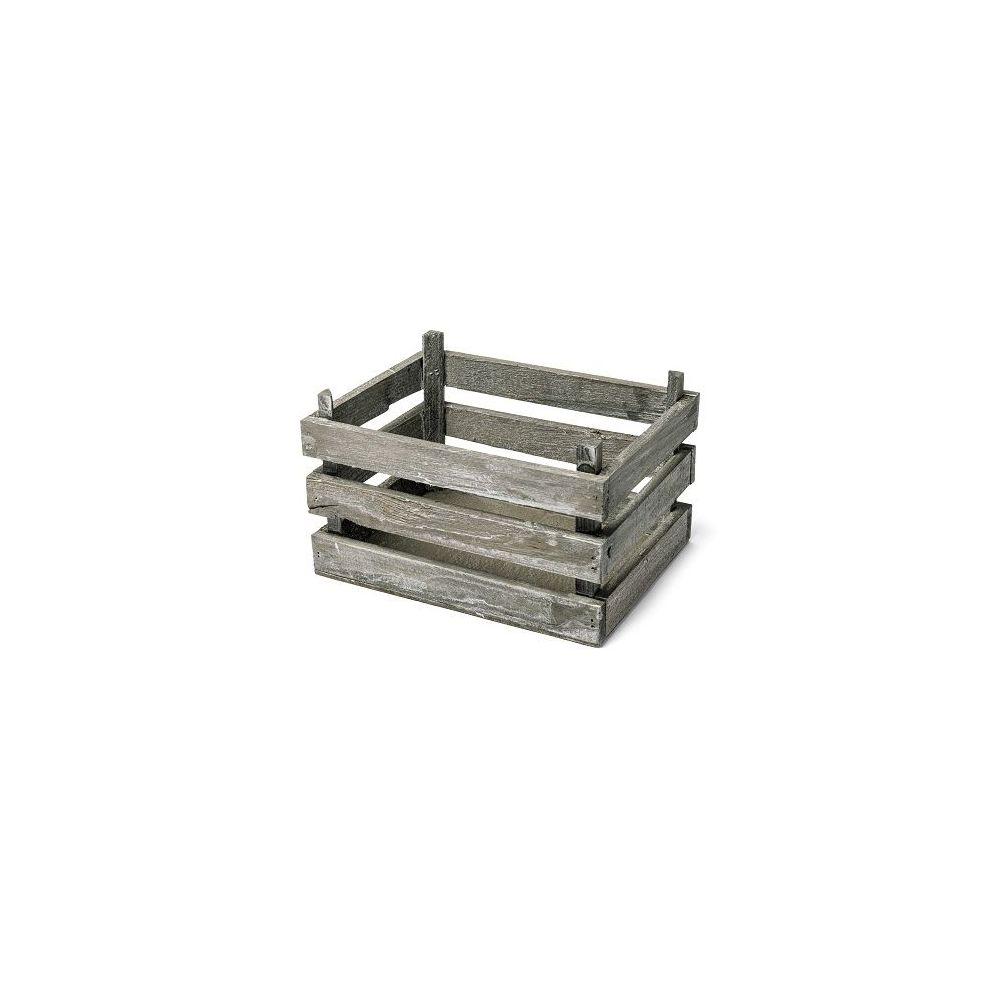 Petite cagette en bois vieilli accessoire deco mariage for Cagette en bois deco