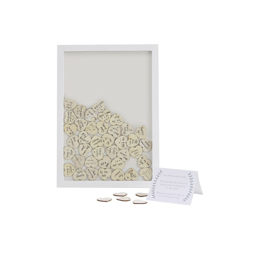 Livre d'or cadre en bois