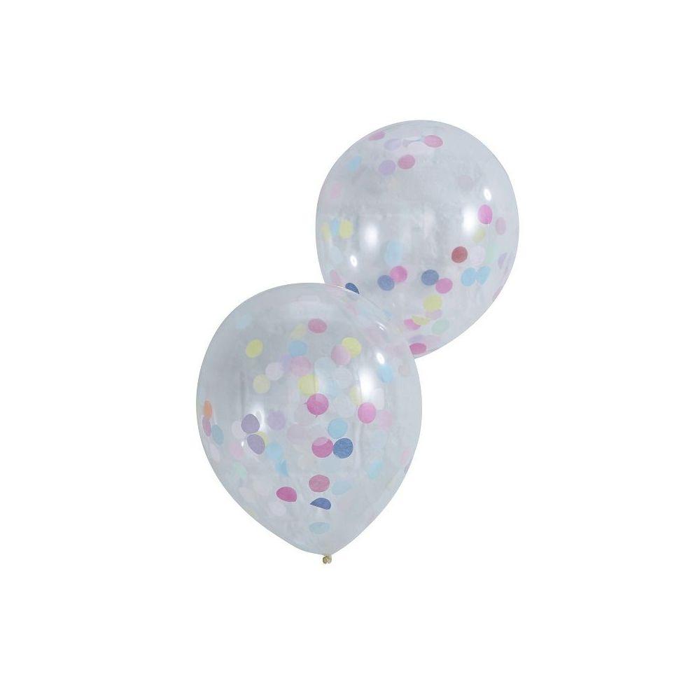 5 ballons confettis