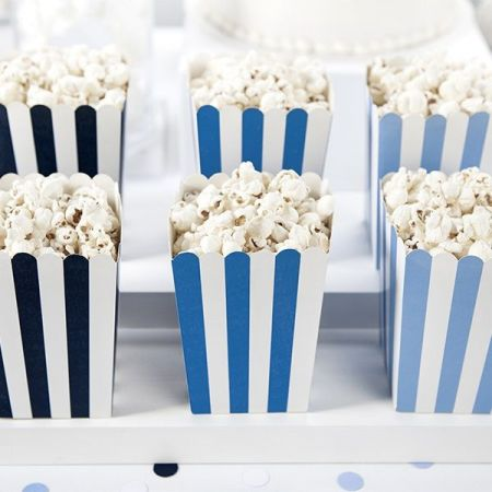6 pots popcorn bleus