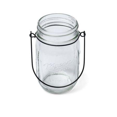 suspension macram et bocal en verre. Black Bedroom Furniture Sets. Home Design Ideas