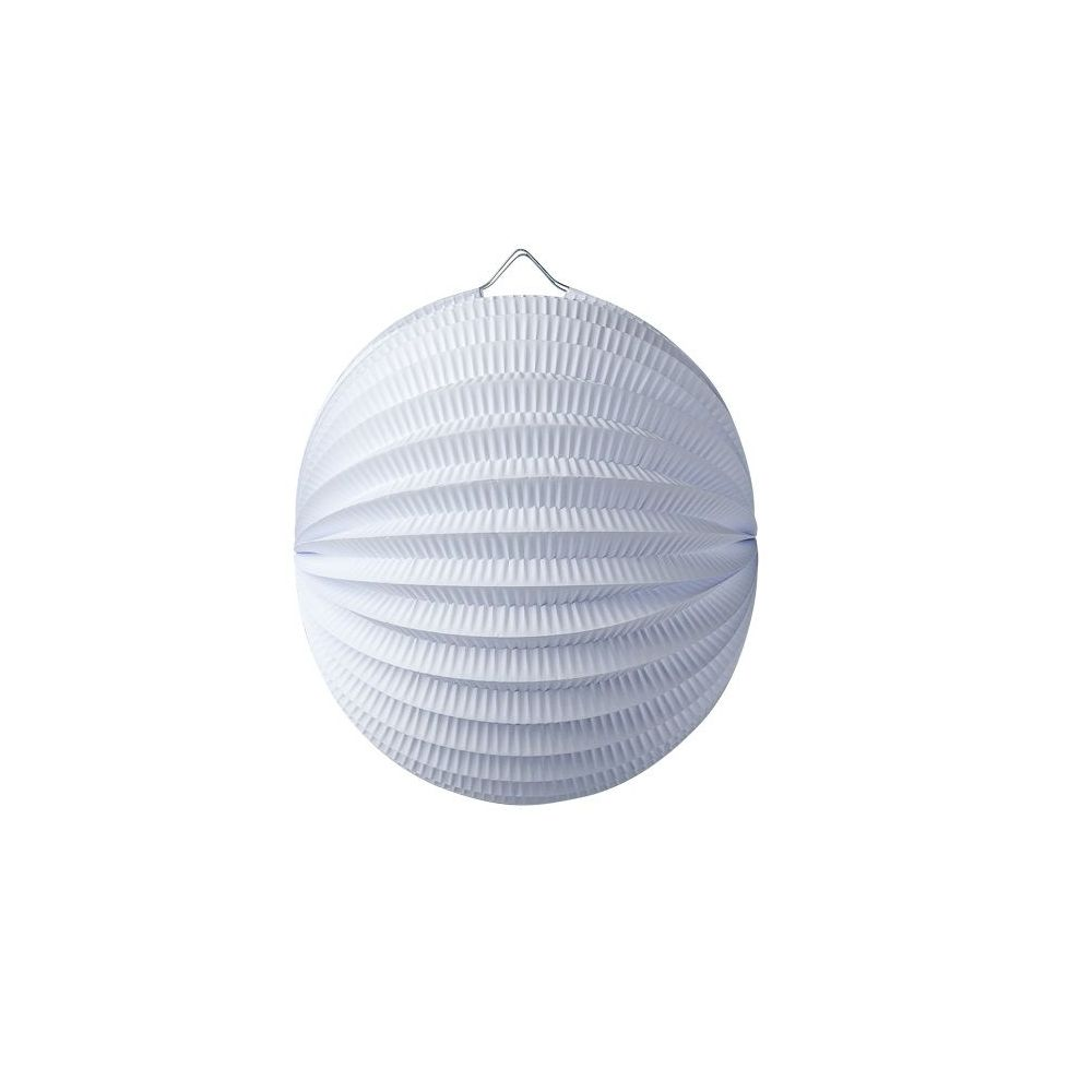 Lampion boule blanc - 20 cm