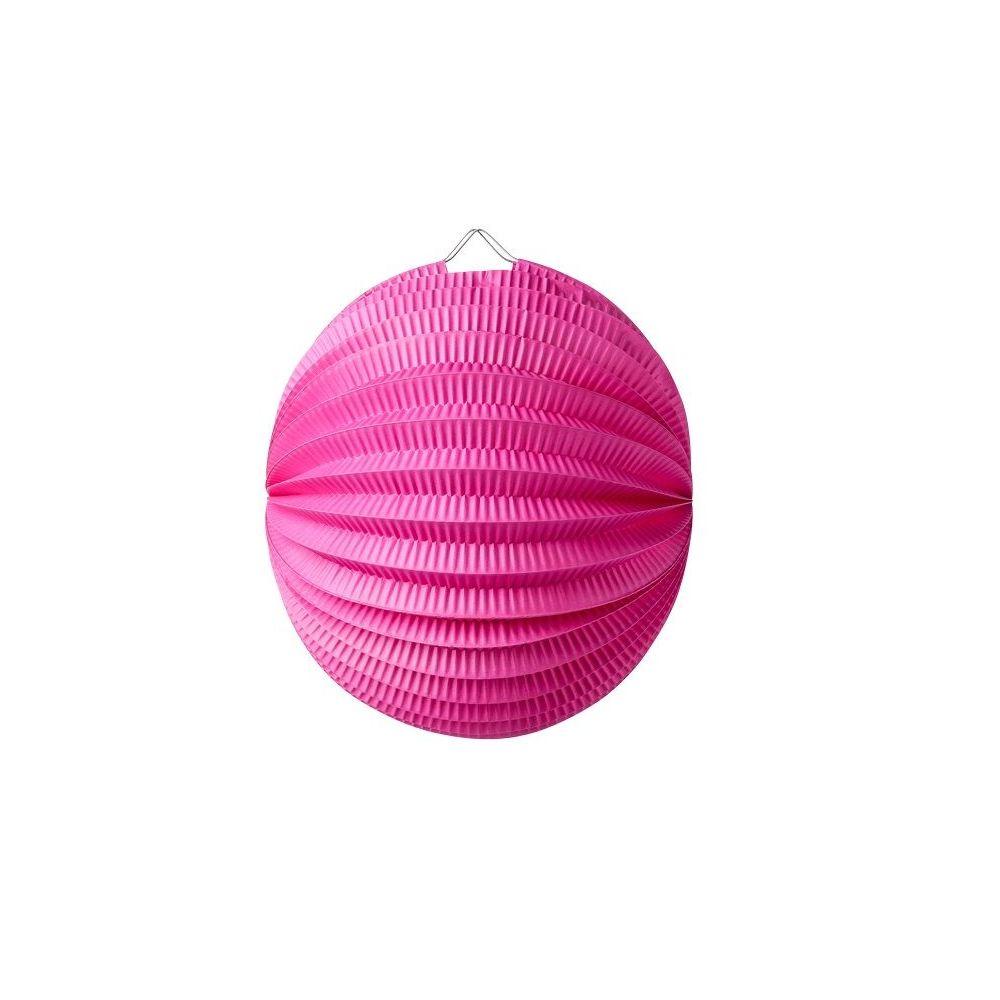 Lampion boule fushia - 20 cm