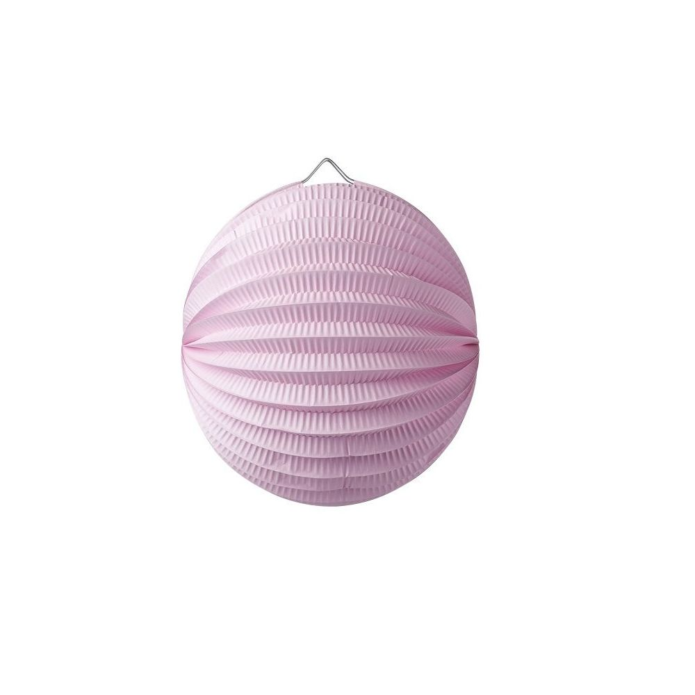 Lampion boule rose - 20 cm
