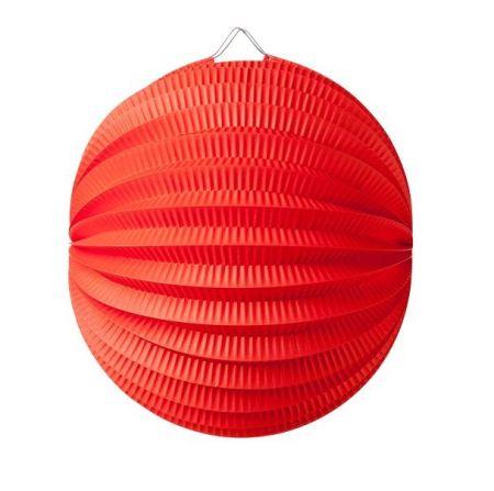 Lampion boule rouge - 20 cm