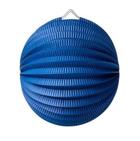 Lampion boule bleu marine - 20 cm