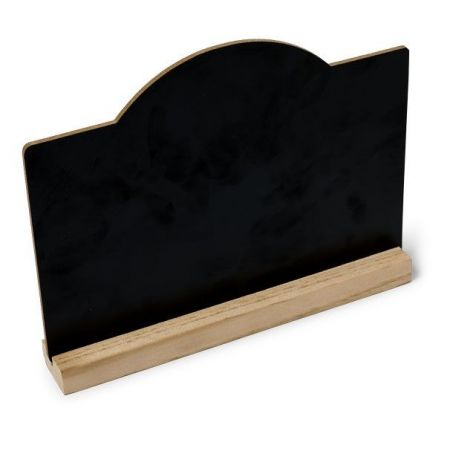 Ardoise sur socle en bois - 20 x 15 cm