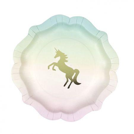 12 assiettes licorne