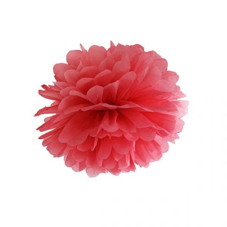 Pompon rouge - 25 cm