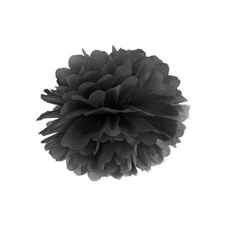 Pompon noir - 25 cm