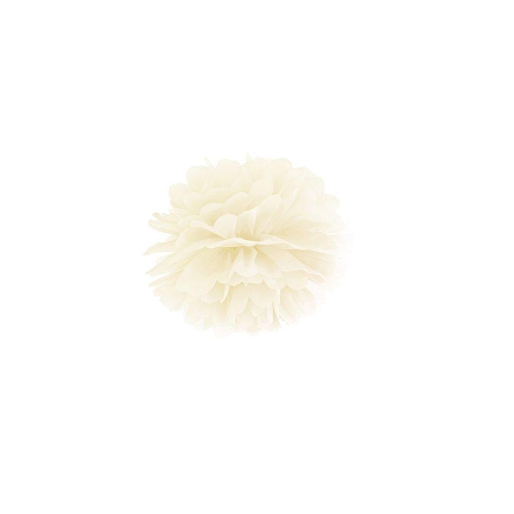 Pompon en papier crème - 25cm