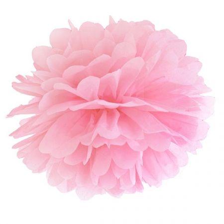 Pompon rose pâle - 35 cm