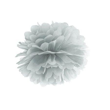 Pompon argenté - 25 cm