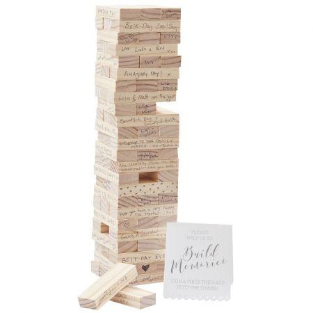 Livre d'or jeu en bois Jenga