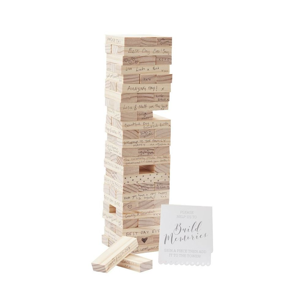 livre d 39 or jeu en bois jenga. Black Bedroom Furniture Sets. Home Design Ideas