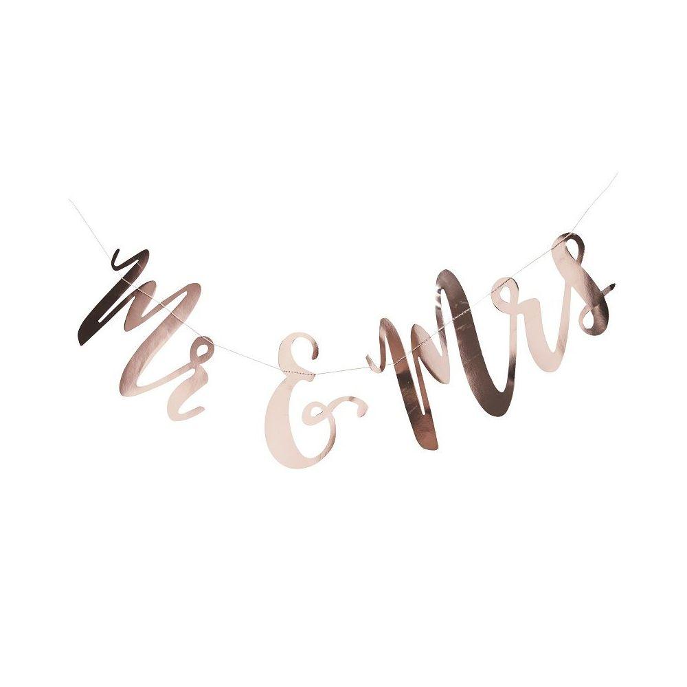"""Guirlande """"MR & MRS"""" cuivrée"""