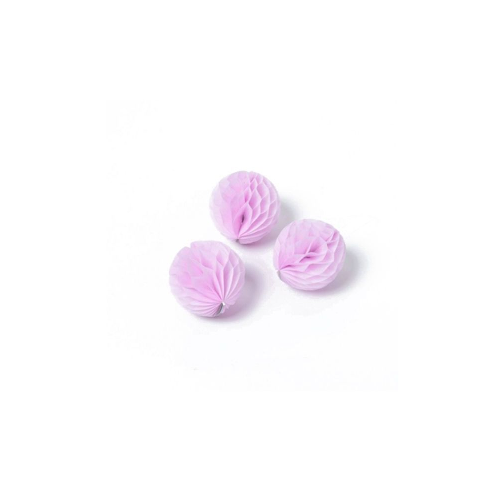 10 mini boules alvéolées rose pâle