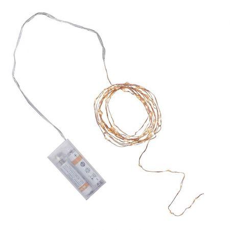Guirlande lumineuse fil en cuivre et LED