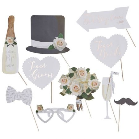 10 accessoires photobooth mariés chics