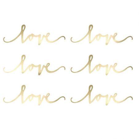 Décoration LOVE doré