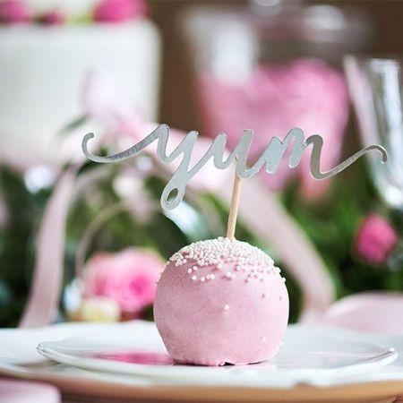 6 pics messages argentées pour cupcake & gâteau
