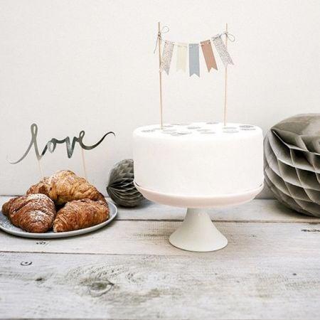 Cake topper jolis fanions