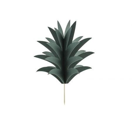 6 pics à gâteaux feuilles d'ananas
