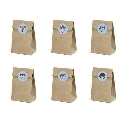 6 pochettes à gourmandises forêt