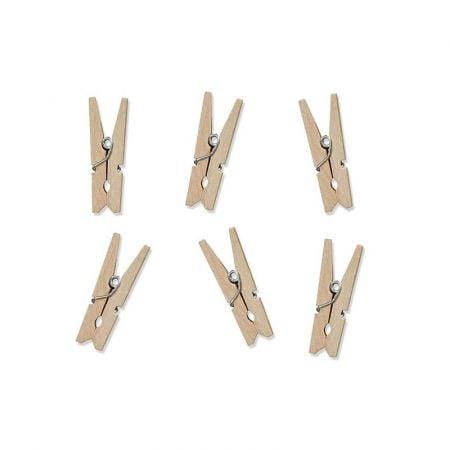 20 pinces en bois