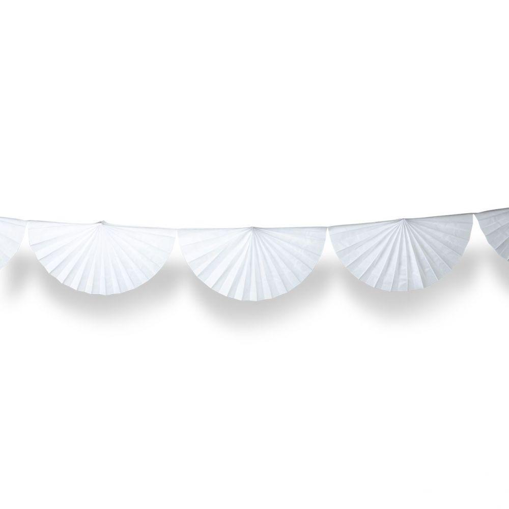 Guirlande éventail blanche - 3m