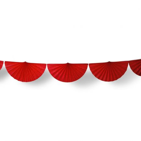 Guirlande éventail rouge - 3m