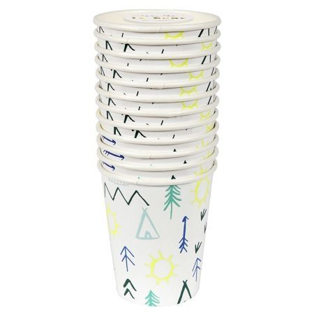 12 gobelets imprimés