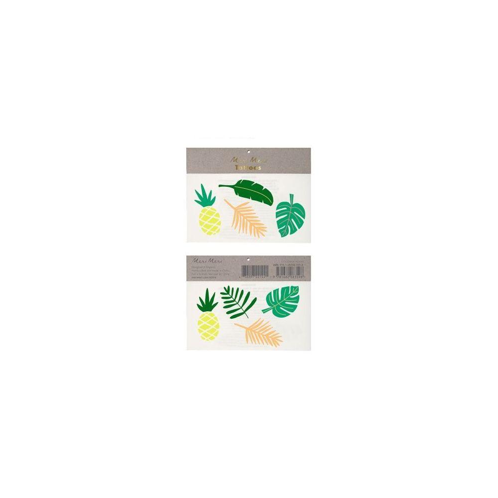 Tatouages temporaires feuilles effet or métallisé
