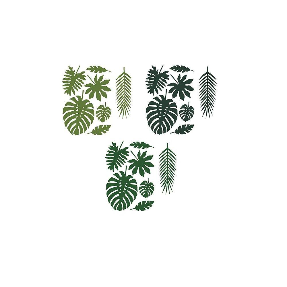 21 feuilles tropicales en papier. Black Bedroom Furniture Sets. Home Design Ideas