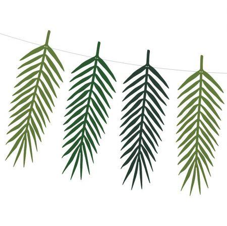 Guirlande de feuilles tropicales - 1m25