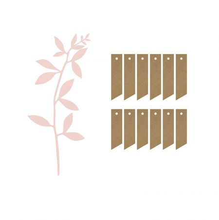 6 marque-places fleurs roses