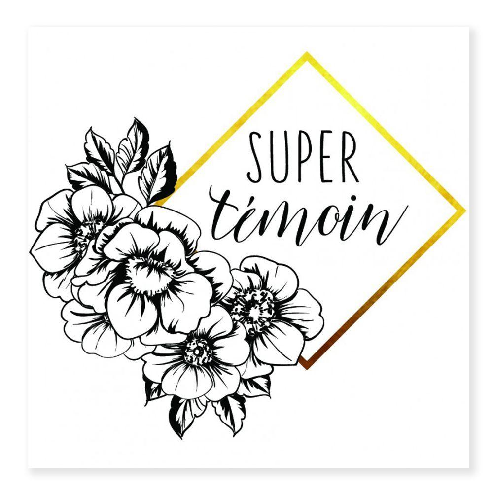 Tatouages temporaires SUPER TEMOIN