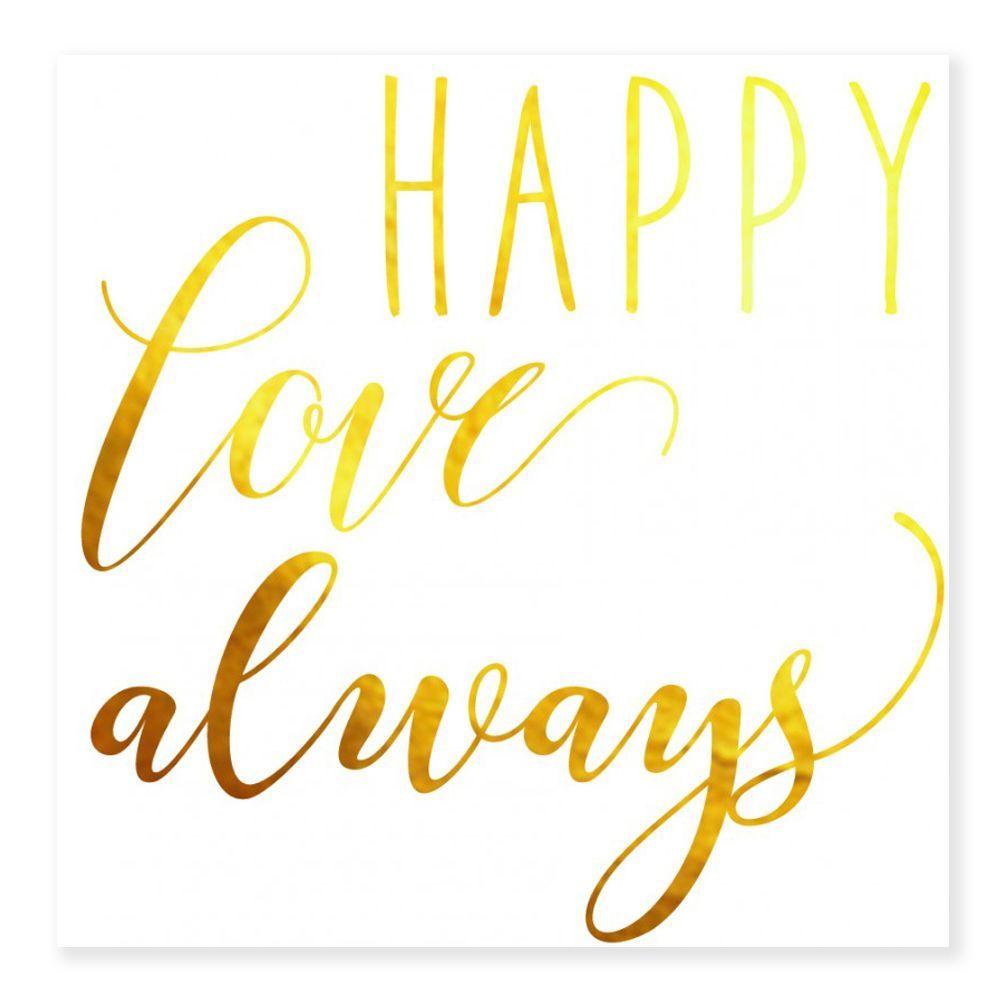 Tatouages temporaires HAPPY LOVE ALWAYS