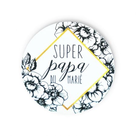 "Badge ""super papa du marié"""