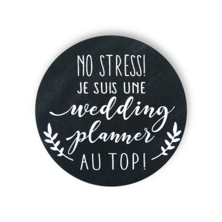 "Badge ardoise ""wedding planner"""