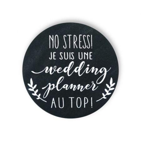 "Badge ardoise ""wedding planner"""