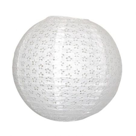 Lampion blanc effet dentelle - 35cm