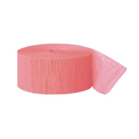 24 m ruban papier crépon pêche rosé