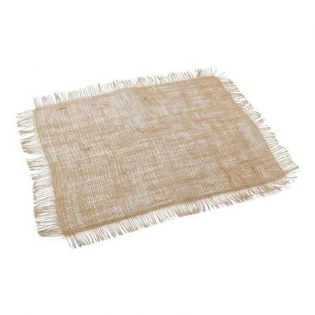 Set de table toile de jute effilée - 45x35 cm